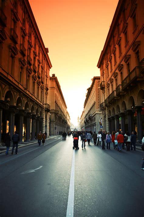 stock photo  city italy pedestrian precinct