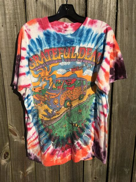 Snowing Oversized T Shirt Colorbox vintage grateful dead tie dye tour concert