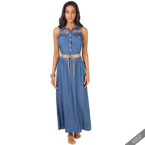 women s skirts womens summer dresses mountain womens sleeveless denim retro maxi dress long skirt
