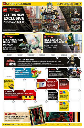 lego store calendar december 2017 lego september 2017 store calendar promotions events