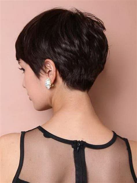 photos of the back of a haircut with a w neckline back view of pixie haircuts