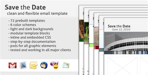 Save The Date Email Template By Creekjumper Themeforest Save The Date Website Template