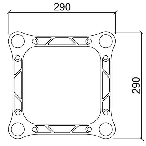 traliccio dwg standard truss 29 cm