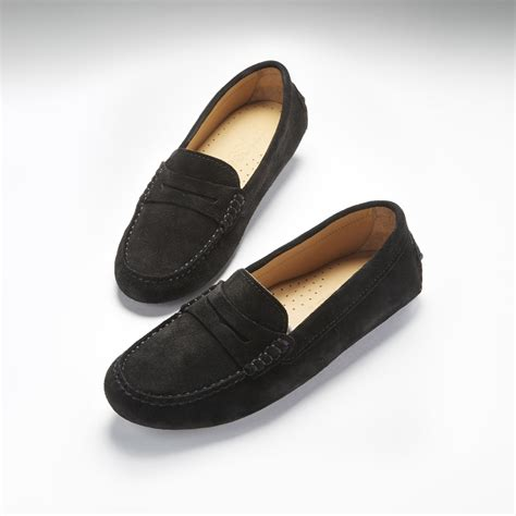 womens loafers black black loafers for images