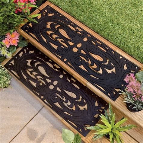 Mats For Outdoor Steps by Stair Inspiring Outdoor Garden Design With Brown Wooden