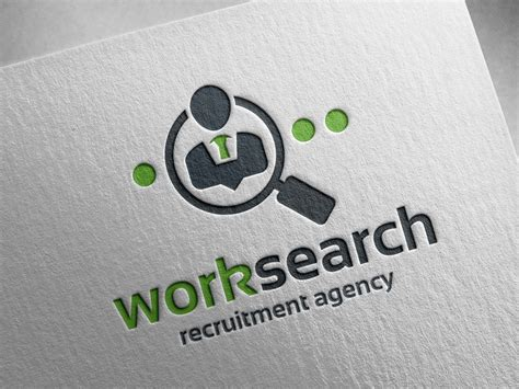 Search By Work Work Search Logo Template By Alex Broekhuizen Dribbble