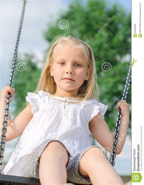 little girl on swing little girl on swing royalty free stock photos image