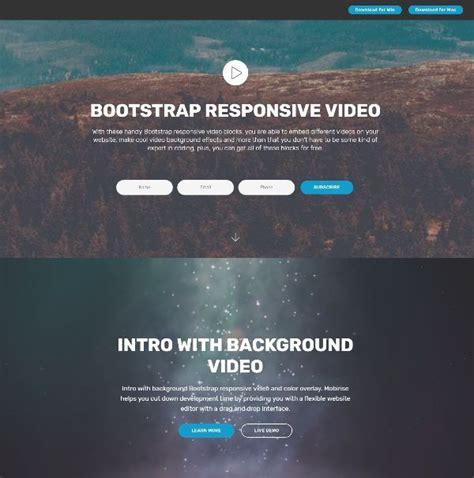 bootstrap tutorial youtube carousel full screen html5 video background