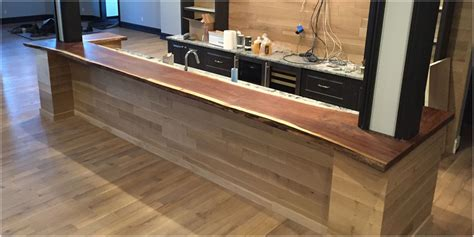 bar top edge live edge bar tops tree purposed detroit michigan live