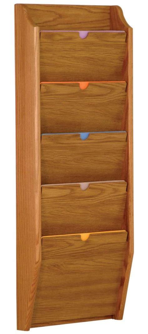 file folder wall rack wood privacy chart holder 5 tiered file folder rack