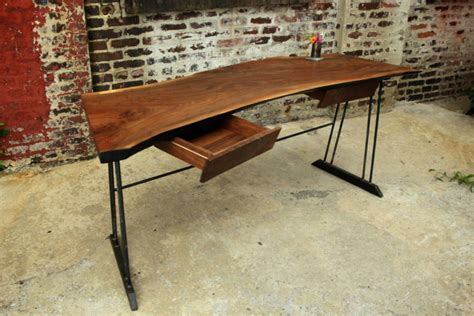 metal and wood desk with drawers your office more eco with a reclaimed wood desk