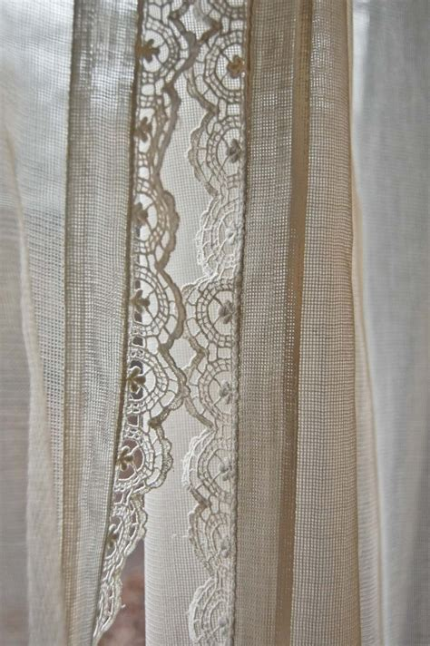 curtains with lace trim crochet lace lace trim and curtains on pinterest