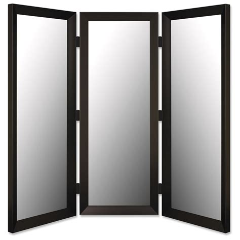sydenham mirrored room divider in angle iron black made