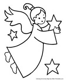 easy pre christmas coloring pages christmas angel stars