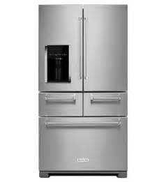 Door French Door Refrigerator Reviews - kitchenaid 174 25 8 cu ft 36 quot multi door freestanding refrigerator krmf606ess stainless steel