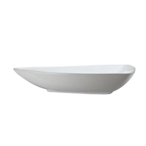 Triangular Bathroom Sinks by Shop Decolav Classically Redefined White Vessel Triangular