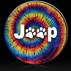 jeep paws tie dye spare tire cover custom tire covers