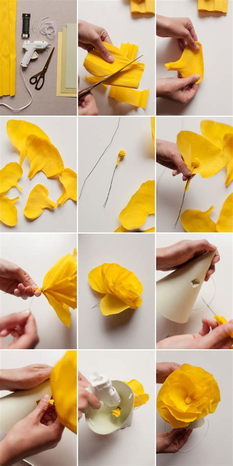 How To Make A Big Paper Hat - paper flower hats diy