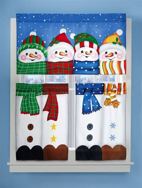 winter pals snowman curtain set