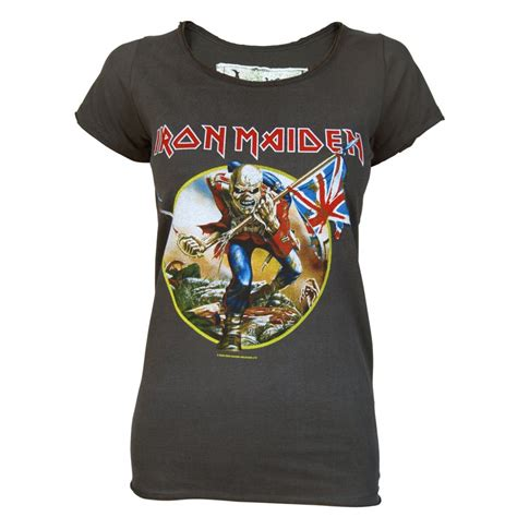 T Shirts Iron Maiden Irmd 103 lified iron maiden trooper t shirt charcoal