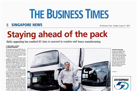 Ahead Of The Times by The Business Times Staying Ahead Of The Pack Sc Auto