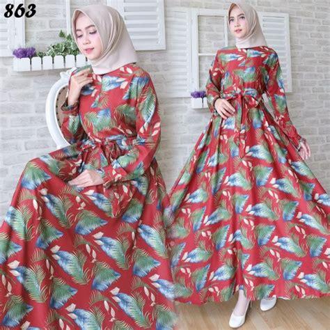 Baju Busana Muslim Gamis Sabilah Syari Maroon Maxi Wudhu Bl gamis maxi maxmara motif bulu c863 baju muslim remaja