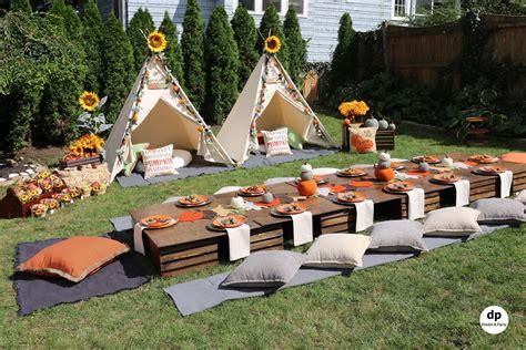 fall teepee picnic party birthday party ideas teepee