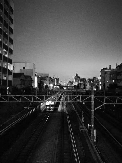 Trem No Movimento Preto E Branco Foto de Stock - Imagem de