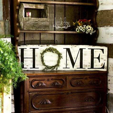 rustic home decore farmhouse decor rustic home decor home wreath sign home