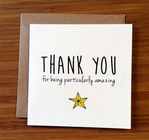 Gift Thank You Card - thank you card appreciation card you re amazing a star