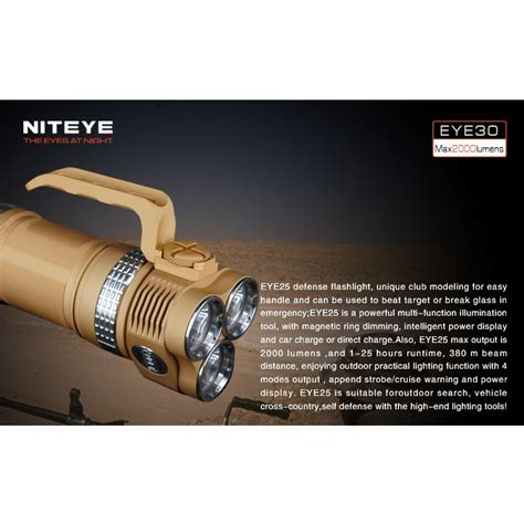 niteye eye30 senter led cree xm l u2 2000 lumens desert sand jakartanotebook