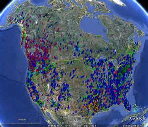 map of bigfoot sightings in the united states bigfoot sightings maps markosun s