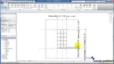 revit tutorial creating families revit tutorials creating a revit window family part 2