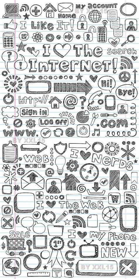doodle website web doodle icons set graphic design