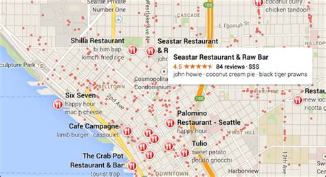 seattle map of restaurants new maps now open to all no invite needed