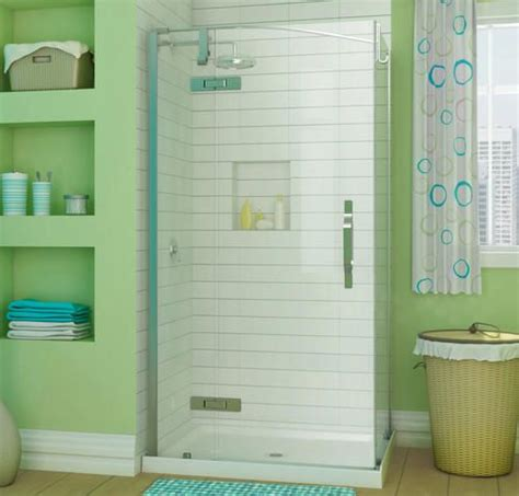 menards bathroom showers maax 174 42 quot x 34 quot azure corner shower kit at menards