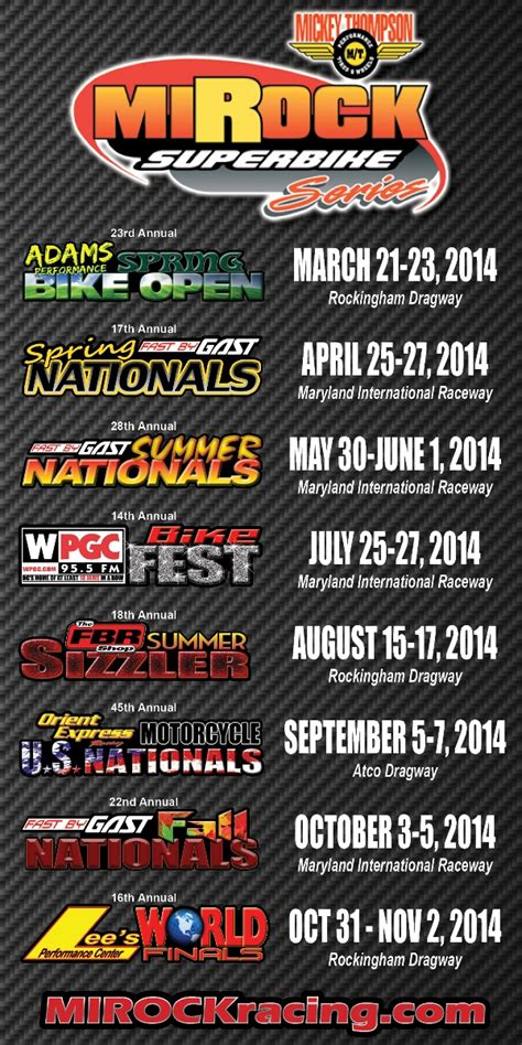 motocross race schedule 2014 2014 mirock motorcycle drag racing schedule dragbike news