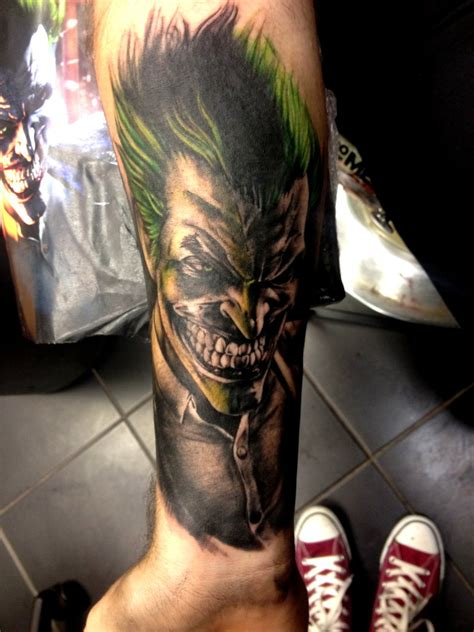 joker tattoo arkham city joker by kayleytatts on deviantart