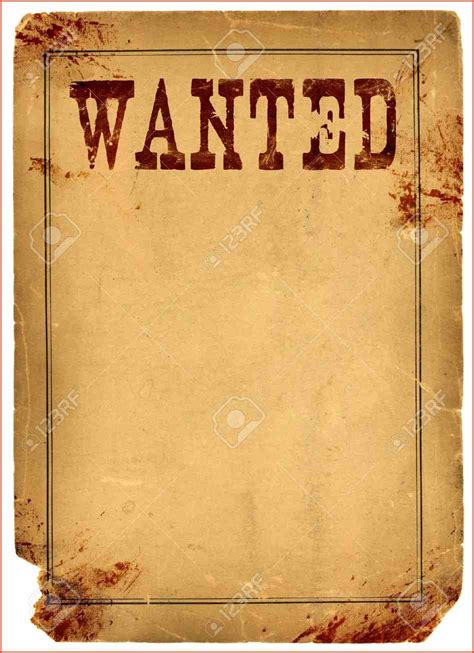 wanted sign template blank wanted poster proposalsheet