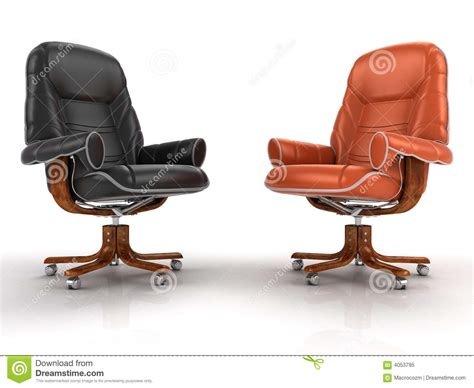 two armchairs two leather armchairs royalty free stock photo image 4053795