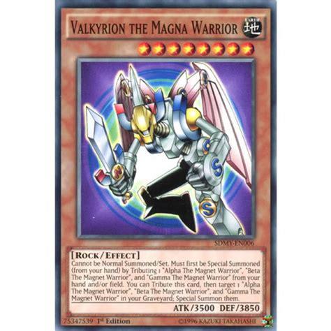 Alpha The Electromagnet Warrior Sdmy En001 1st Edition valkyrion the magna warrior sdmy en006 1st edition yu gi oh card