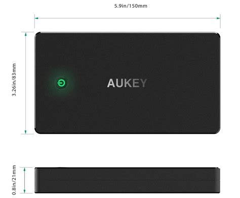 Aukey Power Bank 20000mah 2 Port Qc 20 Pb T5 Black aukey power bank 20000mah 2 port qc 2 0 pb t5 black