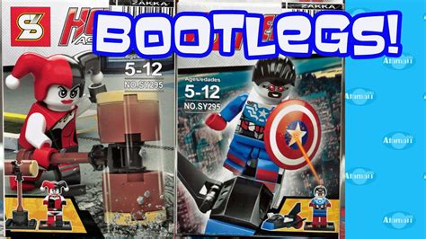 Lego Minifigure Two Bootleg heroes assemble bootleg lego marvel dc comics minifigures