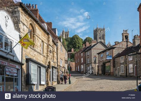 lincoln lincolnshire characterful buildings on steep hill lincoln
