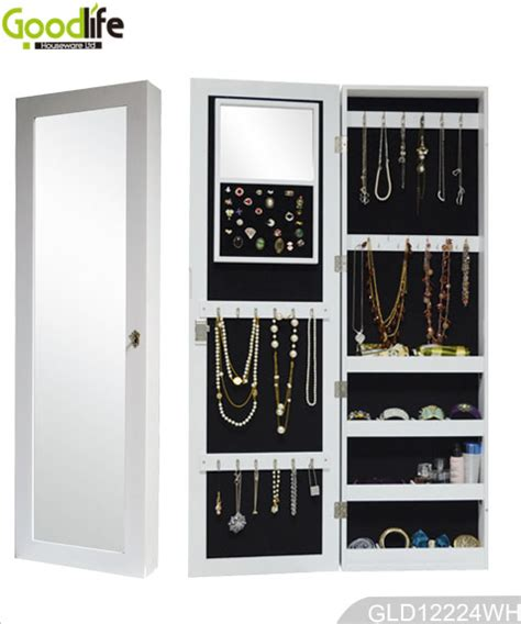 wall mounted full length mirror jewelry cabinet over the door and wall mounted wooden jewelry cabinet