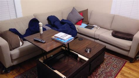 coffee tables that rise up white lift top coffee table diy projects