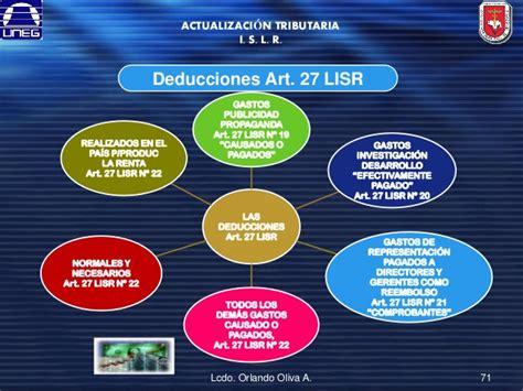art 27 ley de isr mexico lisr 2016 articulo 27 calculo de isr en vales 2016