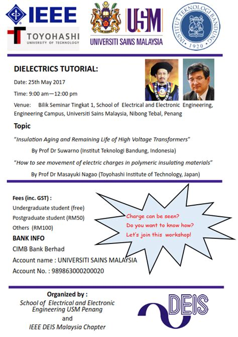 ieee malaysia section ieee deis malaysia chapter dielectrics tutorial ieee