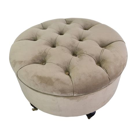 Frontgate Frontgate  Tufted Storage Ottoman