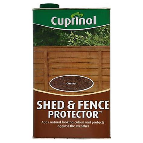 Homebase Shed Paint by Cuprinol Shed And Fence Protector Chestnut 5l